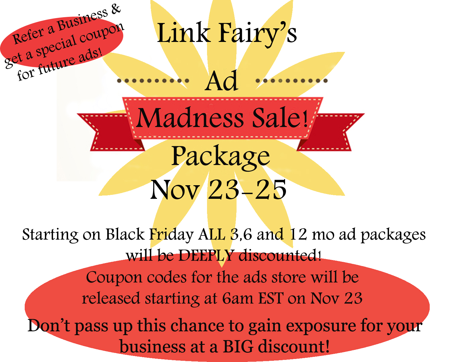 Black Friday Ad Package Madness on Link Fairy!