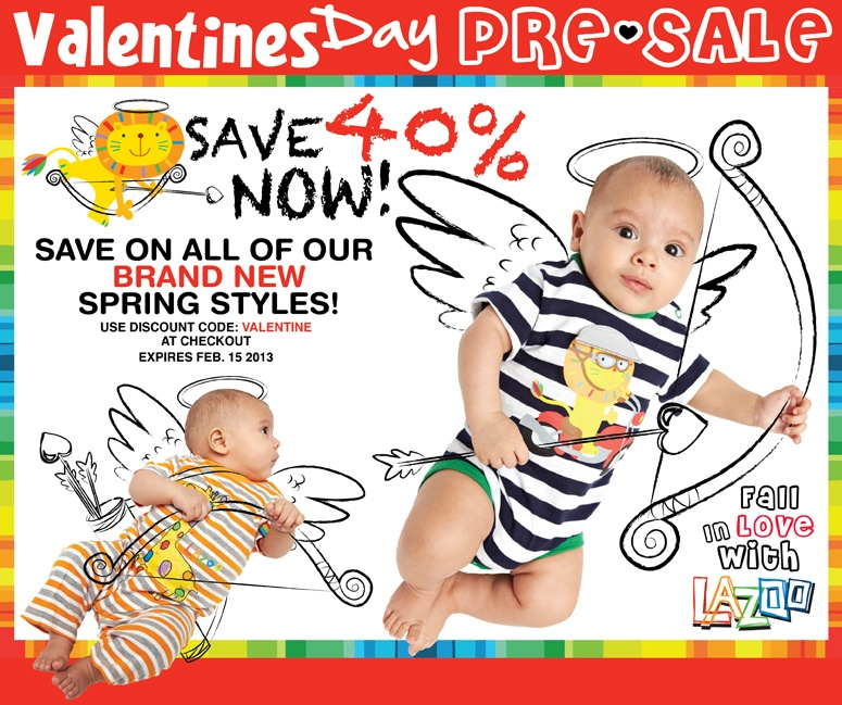Deck out your kids in Lazoo Spring at 40% off!!
