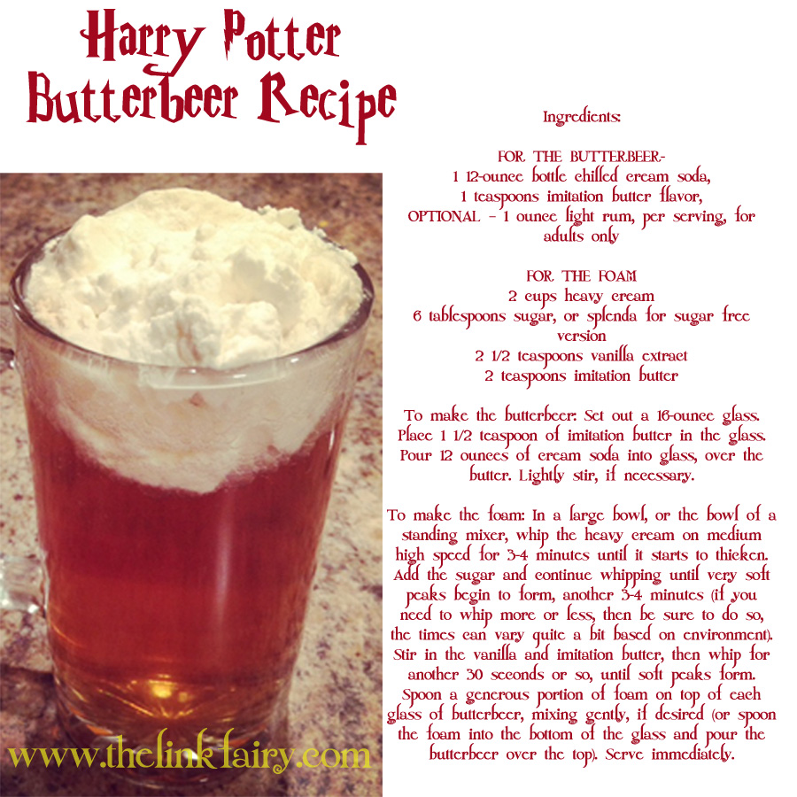 Make your own Butterbeer!!