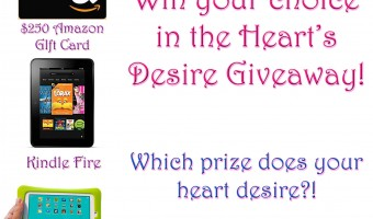 Win your choice in the Heart's Desire Giveaway!