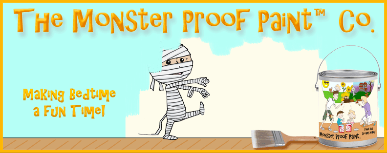Paint those childhood monsters away with Monster Proof Paint!