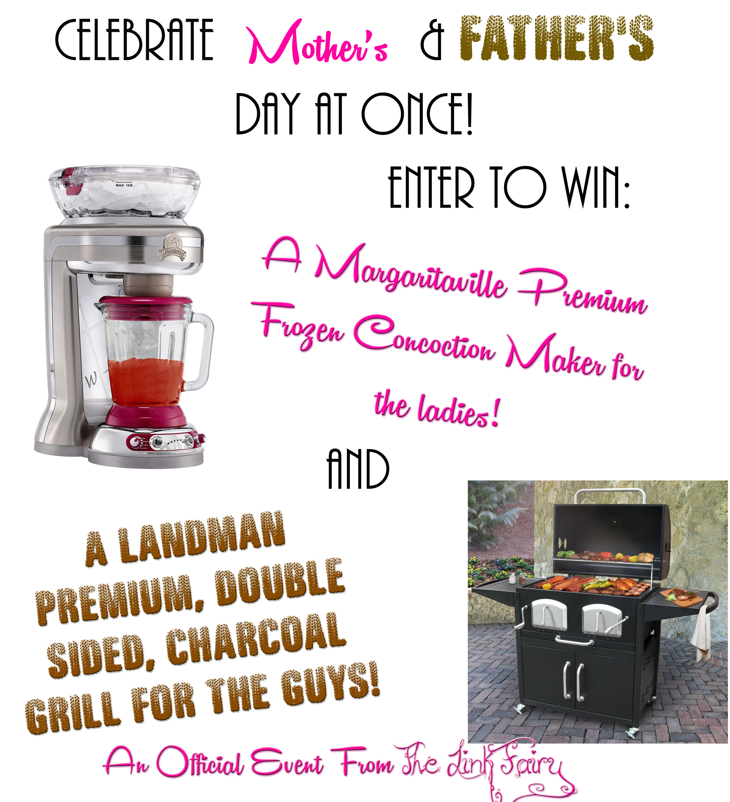 Enter to win a Margaritaville Frozen Drink Maker and a Landmann Double-Sided Charcoal Grill!