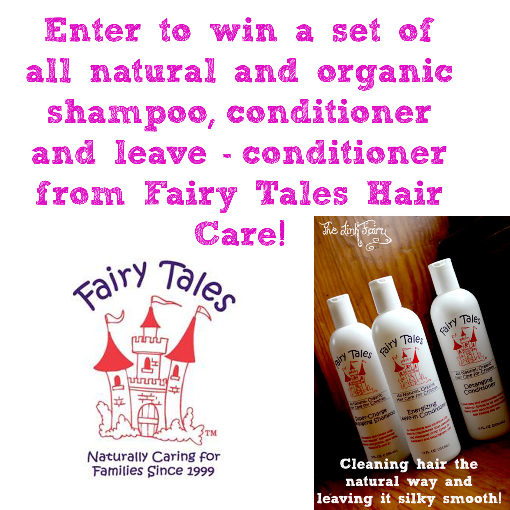 Silky Soft and Tangle Free Hair with Organic and All Natural, Fairy Tales Hair Care Products!