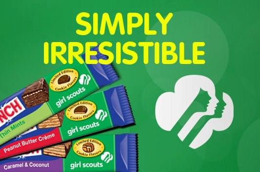 Girl Scout Cookies + Nestle Crunch = One heck of an awesome Summer treat!