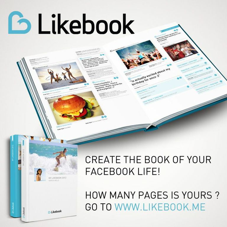 Take your facebook moments from screen to paper with Likebook!