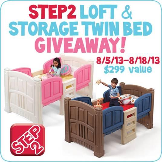 Step2 Loft & Storage Twin Bed Giveaway!