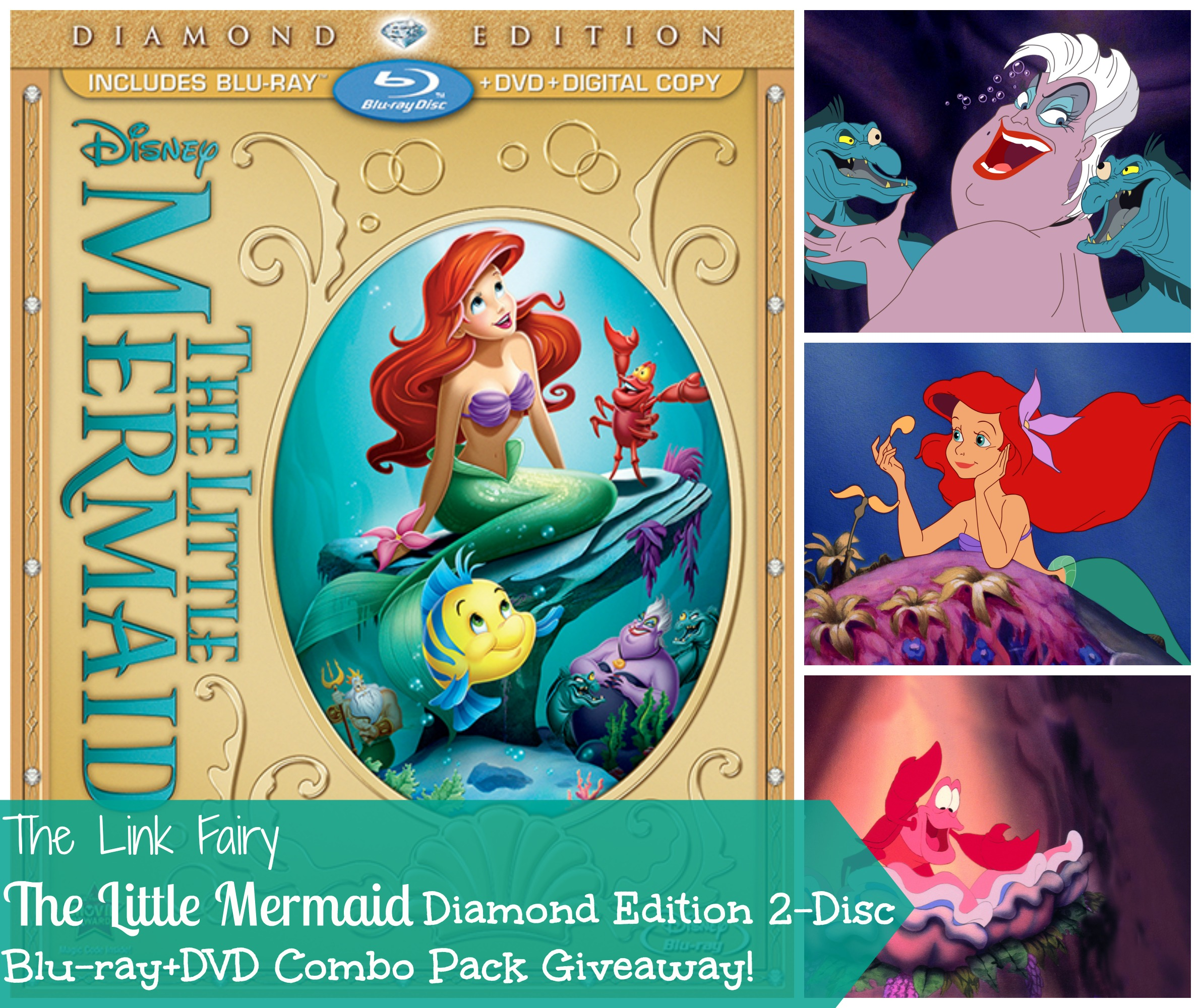 Edition Diamond: The Little Mermaid Diamond Edition Blu-Ray Combo Pack Giveaway