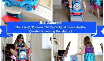 Chugging into Fall with Step2's Thomas The Tank Engine Up & Down Roller Coaster! #Step2blogger
