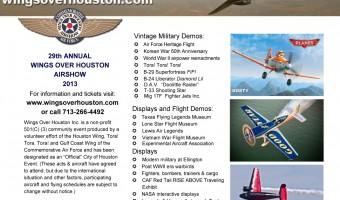 Enter to win a high flying getaway to the Wings Over Houston Airshow! #flyinghigh #Houston