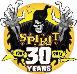 SPIRIT HALLOWEEN 30 YEARS LOGO
