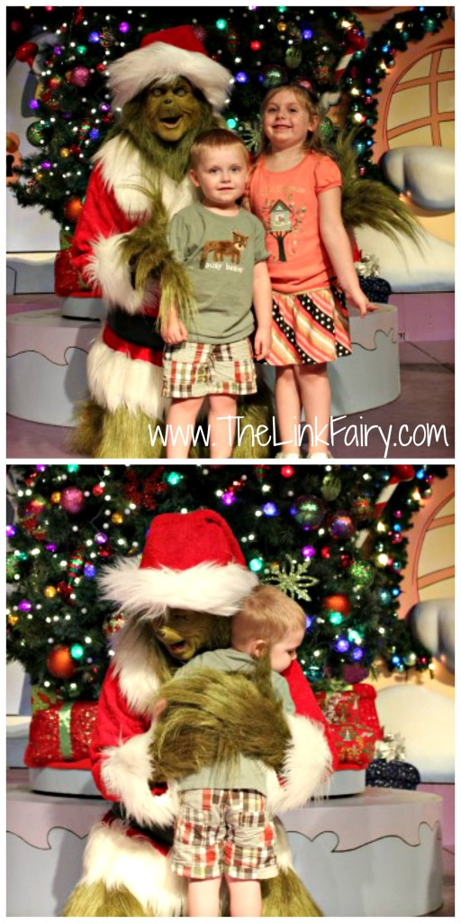 Meeting the Grinch at Islands Of Adventure in Orlando, FL