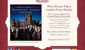 Celebrate Downton Abbey with World Market's Virtual Tea Party & Sweepstakes! #DoTheDownton