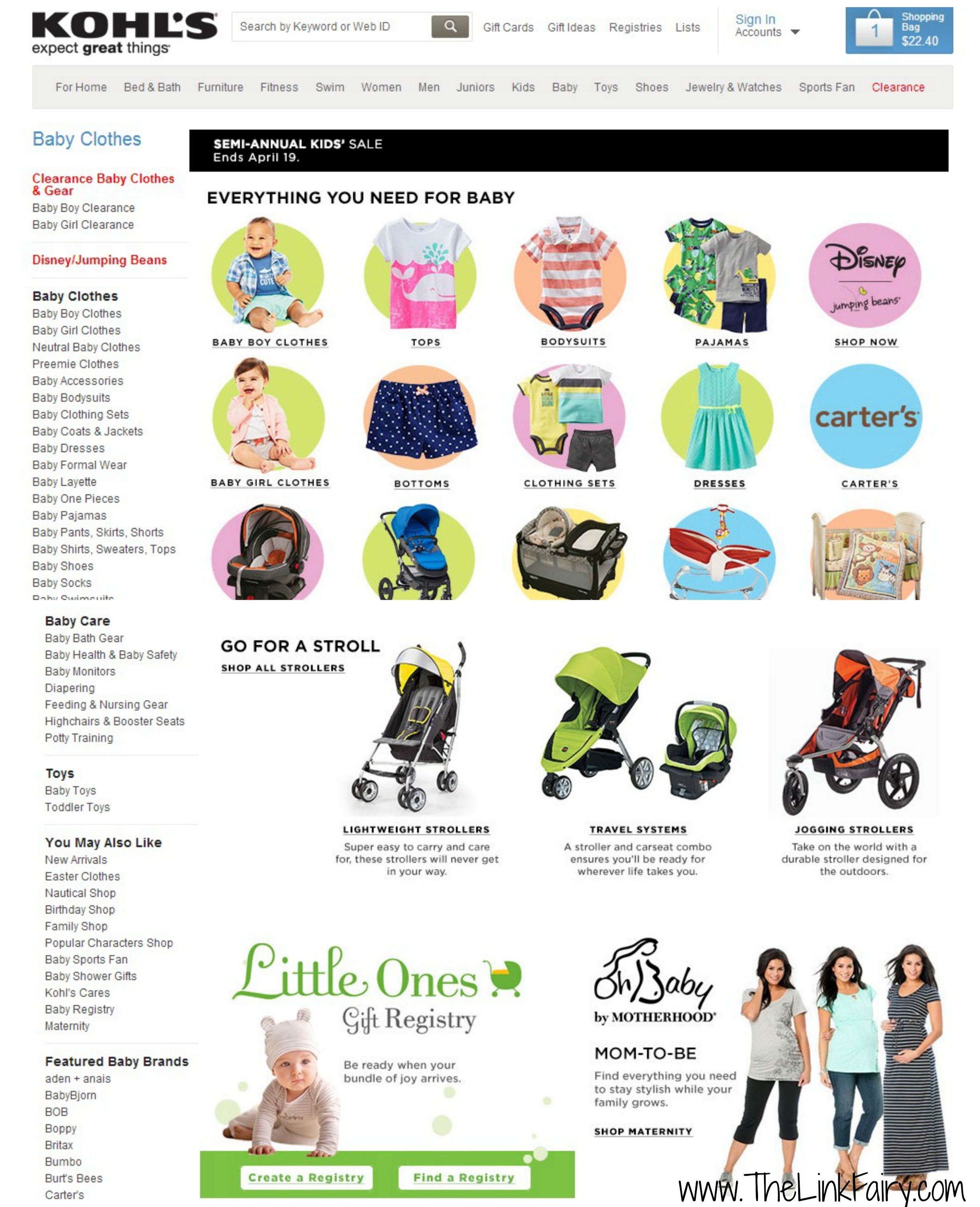Find everything for mom and baby at Kohls