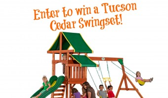 Enter to #win a Cedar Swingset in the Swing Into Spring #Giveaway !