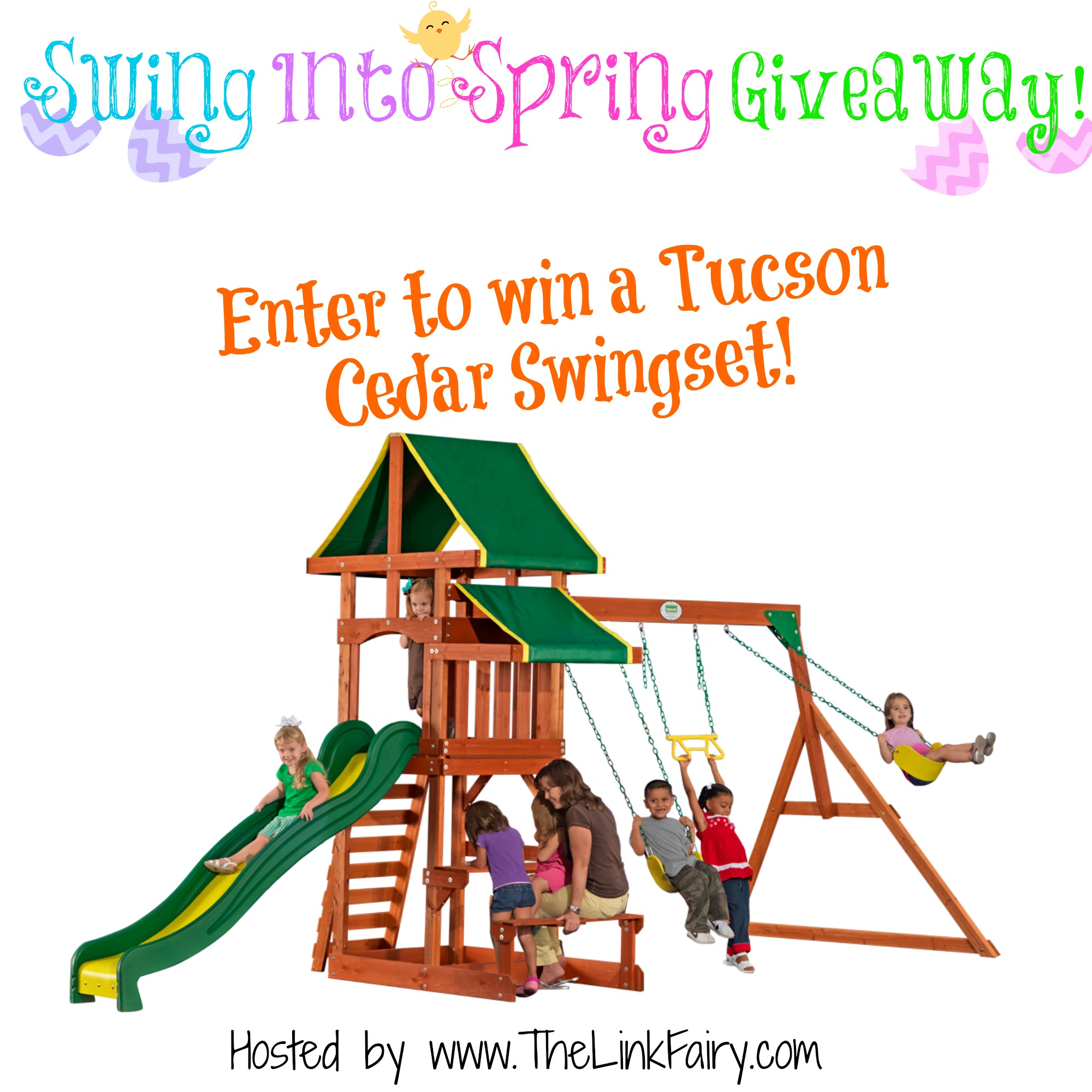 Swing Into Spring Giveaway, win a swing set! - Jet Setting Mom