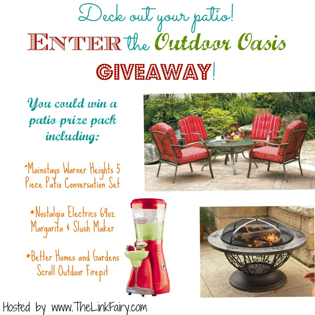 Enter the Outdoor Oasis Giveaway at www.TheLinkFairy.com