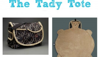Tady Tote, the portable, all-in-one diaper bag and blanket for baby outings! #babyliciousshower