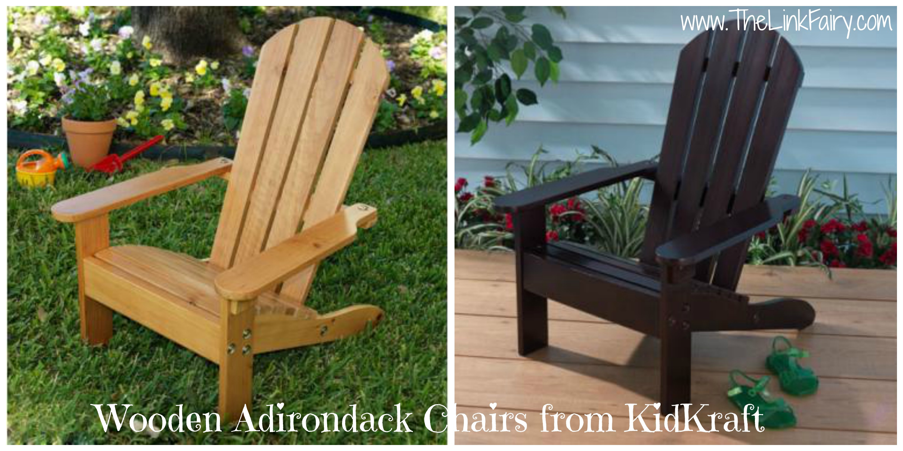 Give your kids a fun place to sit with Adirondack Chairs from KidKraft