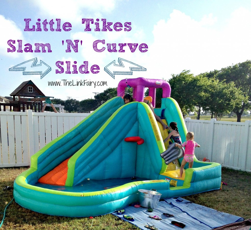 Little Tikes Orange Slides : Little tikes infaltable slam n curve slide review