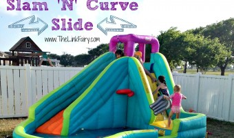 Splashing into Summer with Little Tikes Slam 'N Curve inflatable slide! #Summer