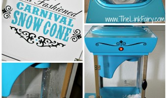 Cooling off with Nostalgia Electrics Old Fashioned Carnival Snow Cone Cart!
