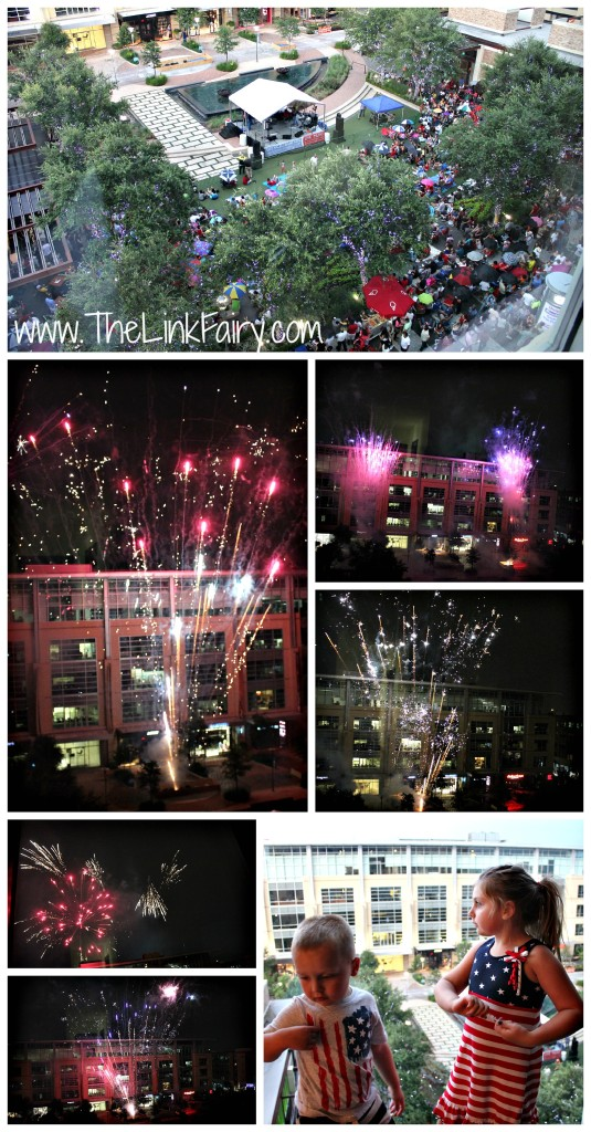 4th of July fireworks at Hotel Sorella City Centre Houston