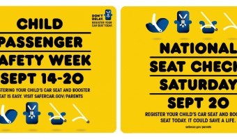 Sept 14-20 is Child Passenger Safety Week! Grab great tips to make sure your kiddos are safe