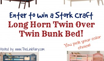 Stork Craft Long Horn Twin Over Twin Bunk Bed Giveaway!