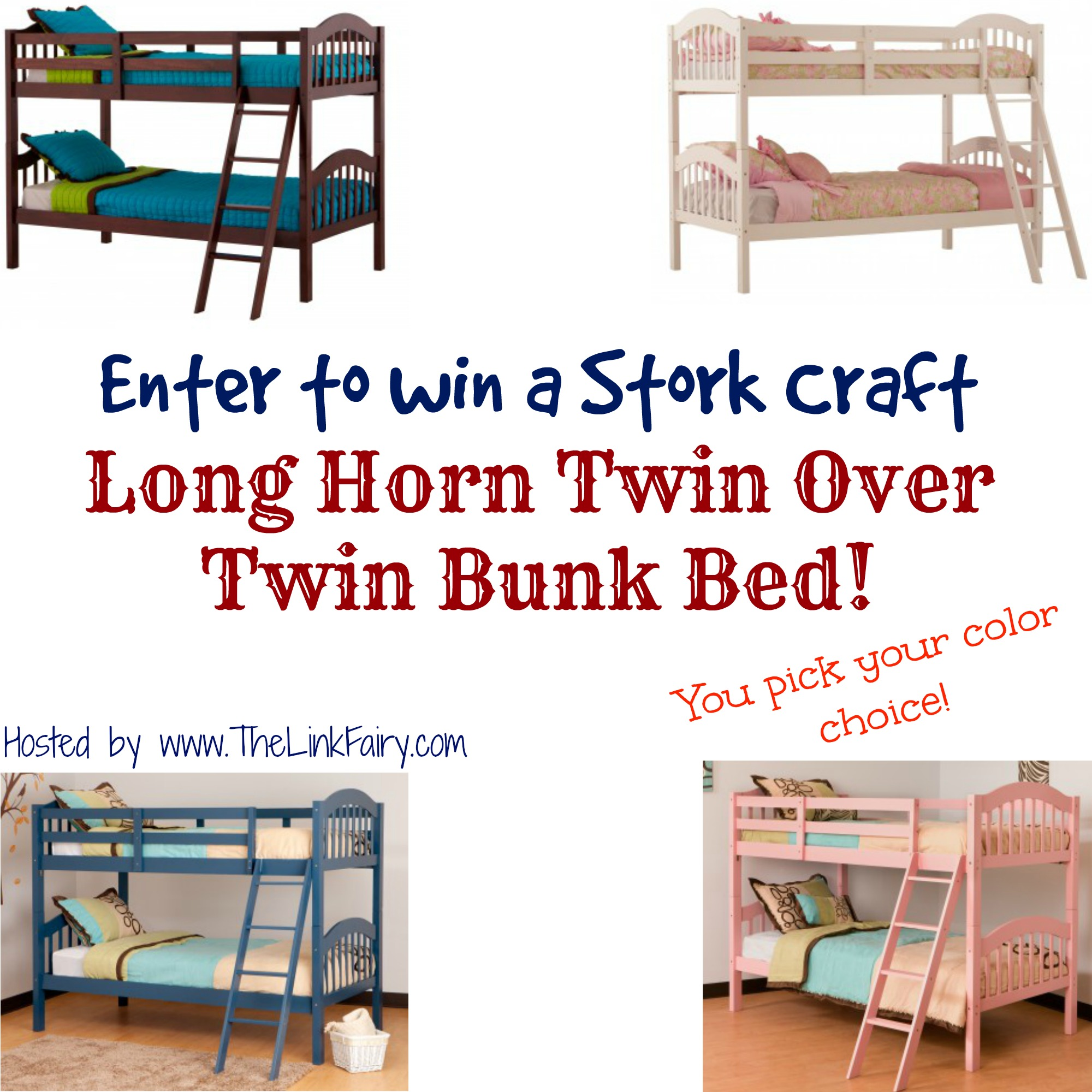Stork Craft Long Horn Twin Over Twin Bunk Bed Giveaway Jet