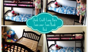 Bringing kiddos closer together with Stork Craft's Long Horn Twin Over Twin Bunk Bed!
