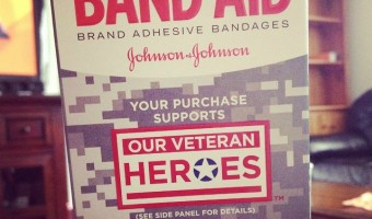 Support our troops with new OUR VETERAN HEROES BAND-AID Brand Adhesive Bandages! #RunWithGlory #MC #Sponsored