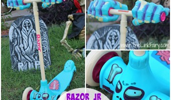 Trick or treat monster style with Razor Jr's Zombie Kix scooter! #halloween