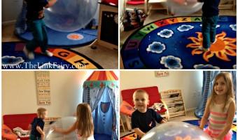 Having fun Wubble Bubble Ball style!