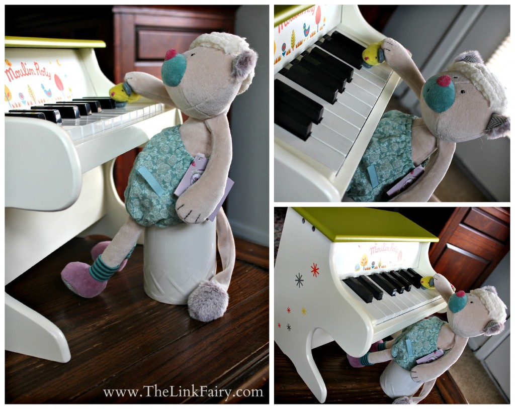 Moulin Roty Baby Piano and Minoucha Cat Doll