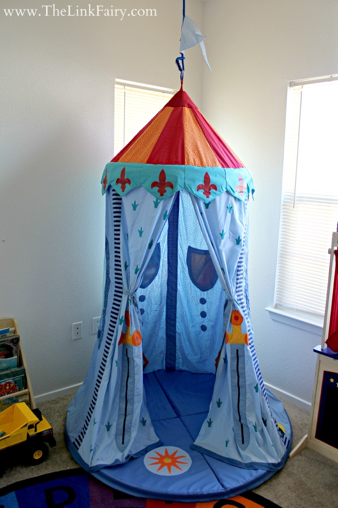 One of my favorite things in my kiddo's play room is this Knight's Hanging Tent by HABA USA!