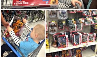 Walmart's Toyland #ChosenByKids Mega 1-Step Bumblebee Figure!