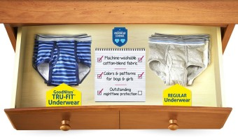 Give your child the best in night time protection with GoodNites* TRU-FIT*!