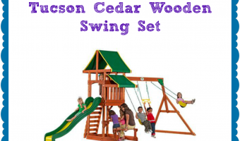 Backyard Fun #Giveaway – Enter to win a wooden swing set!