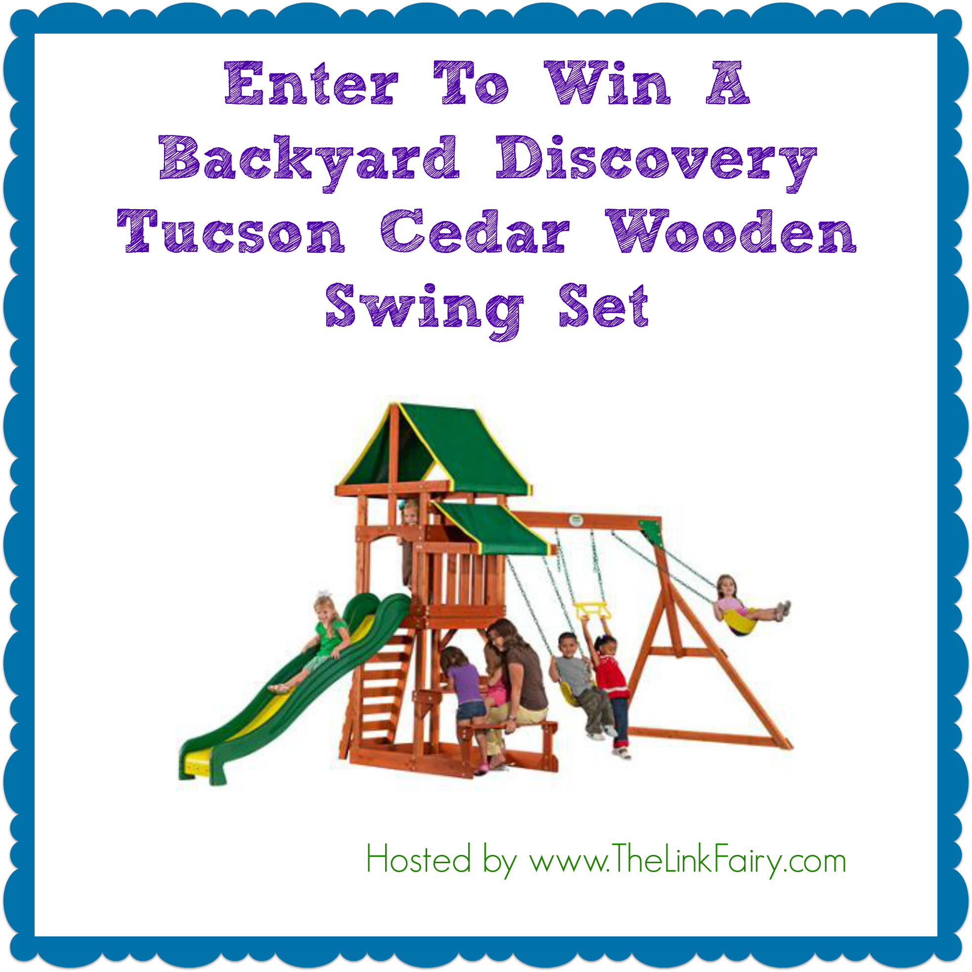 Enter to win a wooden swing set at TheLinkFairy.com ! - Jet Setting Mom
