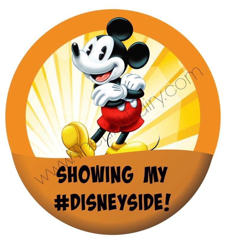 Custom #DisneySide Button created for my #DisneySide party!