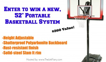 Celebrate March Madness and Enter to win a 52″ Portable Basketball System! #MarchMadness #Giveaway