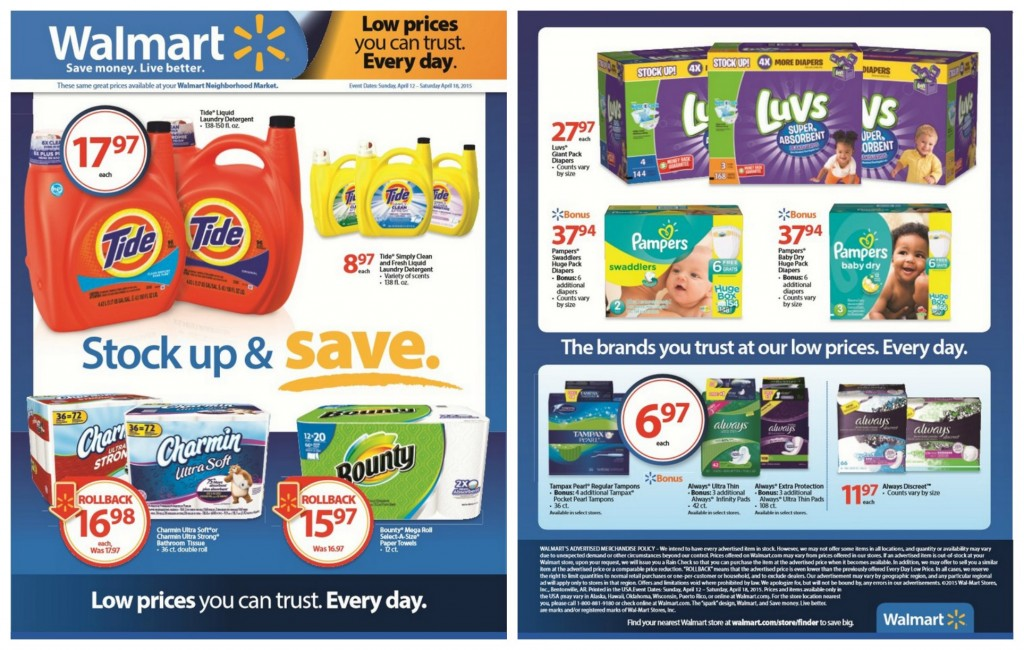 Find your favorite P&G Products at Walmart's Stock Up and Save event!