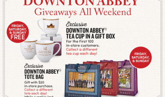 Downton Abbey takes over Cost Plus World Market – Tea, Prizes, Products & More! #DoTheDownton #DowntonAbbey #WorldMarketTribe