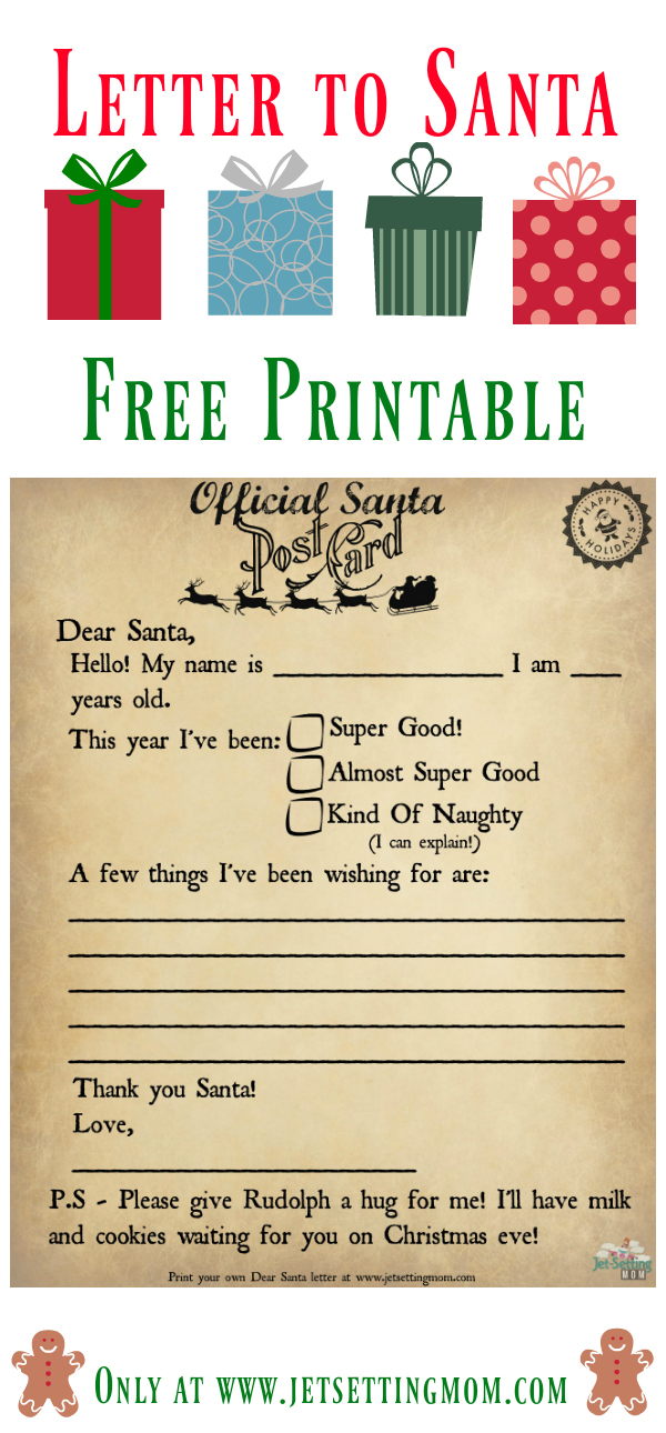 Write to santa the easy way printable letter to santa jet now you can make writing to santa easier for your family with your own printable santa letter template spiritdancerdesigns Gallery