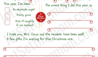 "Free ""Letter to Santa"" Printable – Make Writing To Santa Easy For All Ages"