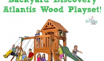 Swing into Spring – Enter to win a wooden swing-set! #giveaway #outdoors #Spring