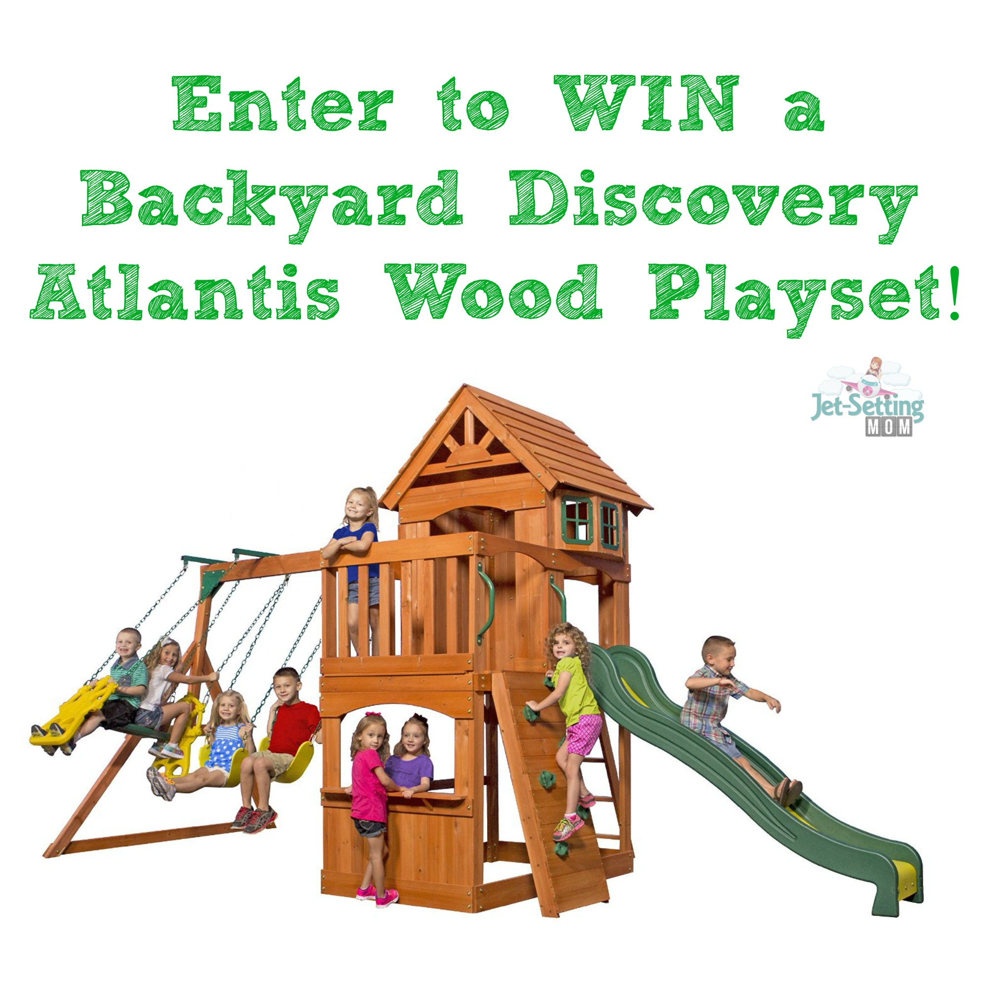 Looking for a cute playground? Enter to win a Backyard Discover Atlantis Wood Playset here!