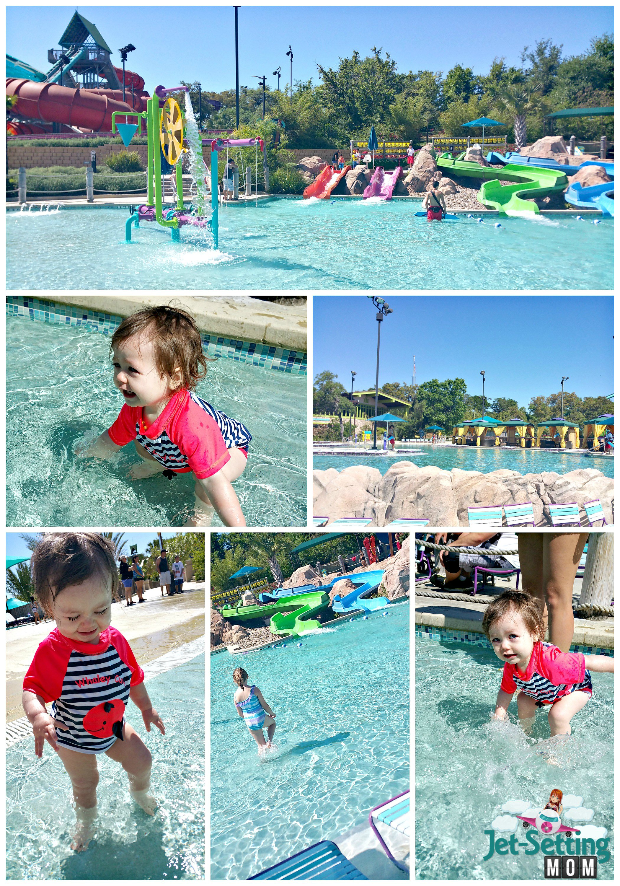 Aquatica at SeaWorld TX is great for infants!