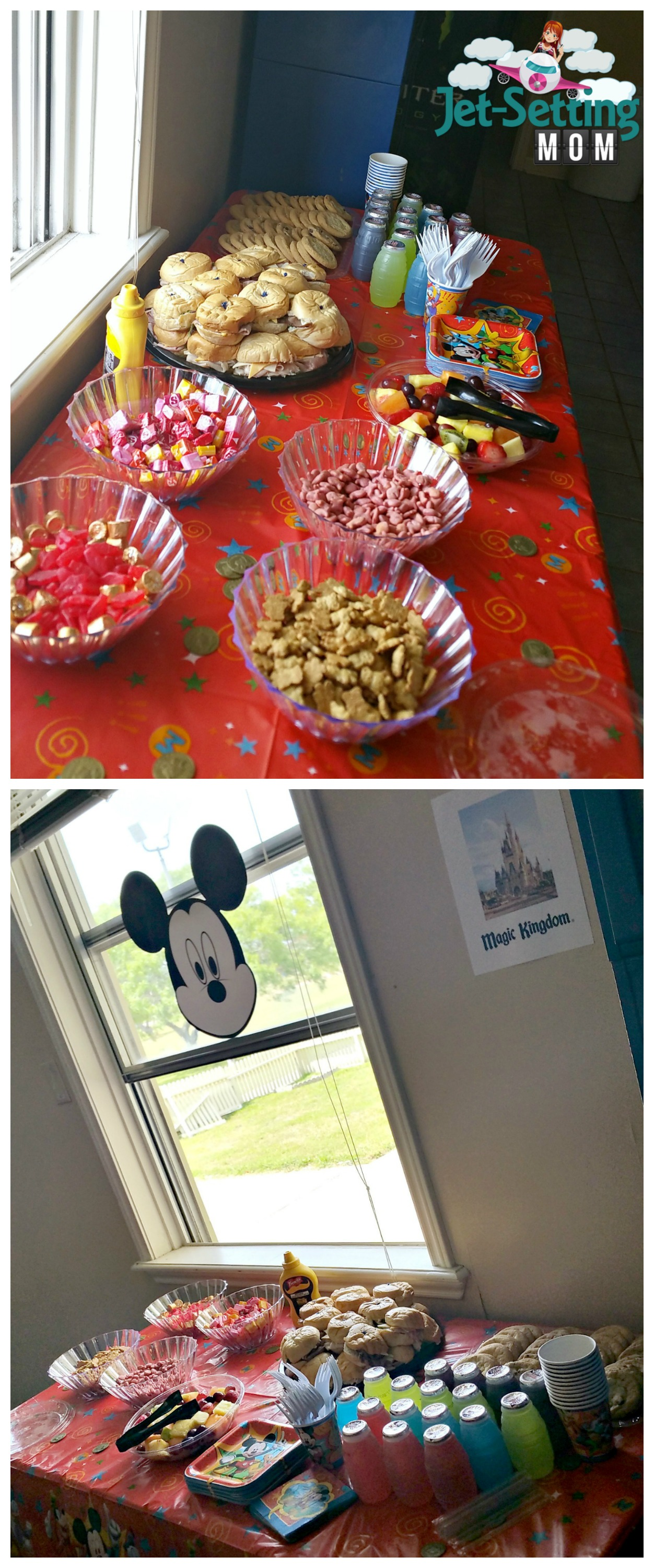 Magic Kingdom food station at our #disneykids playdate