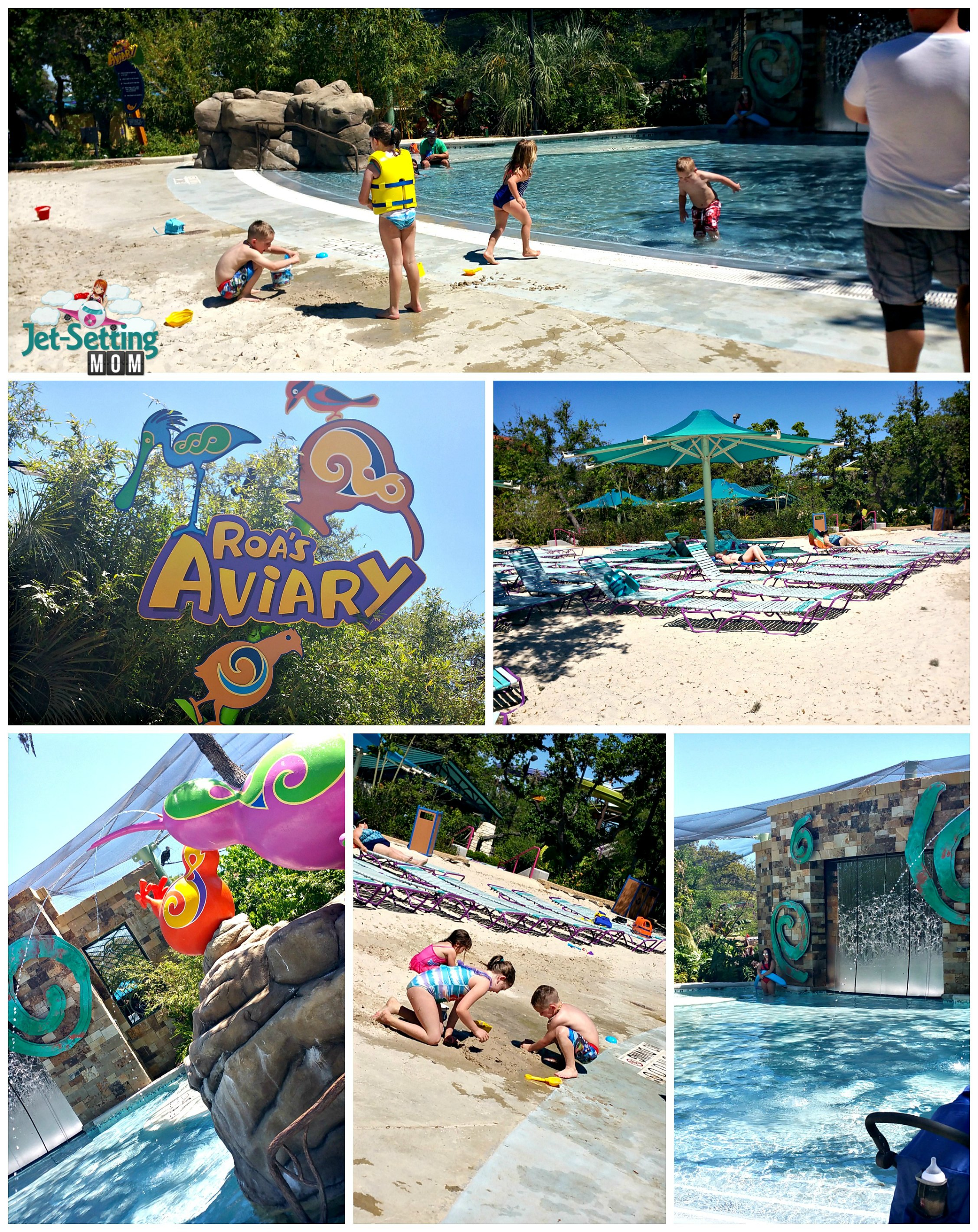 Roa's Aviary offers lots of great interactive play for kids at Aquatica, SeaWorld TX